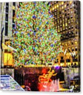 New York City Christmas Tree Acrylic Print