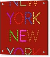 New York No 1 Acrylic Print