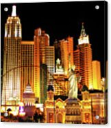 New York New York Hotel Acrylic Print