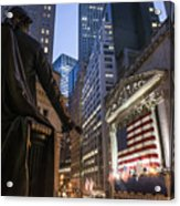 New York Wall Street Acrylic Print