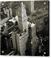 New York Woolworth Building - Vintage Photo Art Print Acrylic Print