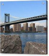 New York's Manhattan Bridge Acrylic Print