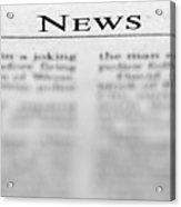 News Acrylic Print