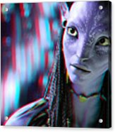 Neytiri - Use Red And Cyan 3d Glasses Acrylic Print