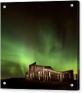 Northern Lights Canada Abandoned Building Acrylic Print