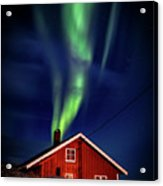 Northern Lights Chimney Acrylic Print