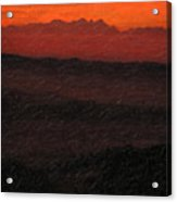 Not Quite Rothko - Blood Red Skies Acrylic Print
