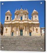 Noto, Sicily, Italy - San Nicolo Cathedral, Unesco Heritage Site Acrylic Print