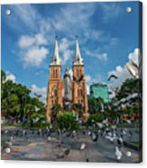 Notre-dame Cathedral Basilica Of Saigon, Officially Cathedral Basilica Of Our Lady Of The Immaculate Acrylic Print