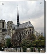 Notre Dame Cathedral In Paris, France Acrylic Print