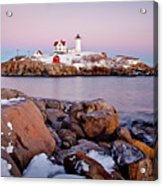 Nubble Winter Dusk Acrylic Print