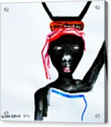 Nuer Lady - South Sudan Acrylic Print