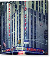 Nyc Radio City Music Hall Acrylic Print by Nina Papiorek