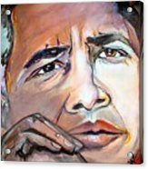 Obama II Acrylic Print by Valerie Wolf