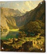 Obersee. Bavarian Alps Acrylic Print