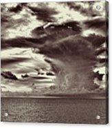 Ocean God Clouds Acrylic Print