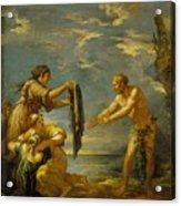 Odysseus And Nausicaa Acrylic Print
