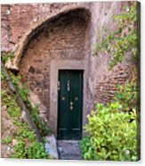 Old Buildings In The Jewish Ghetto In Rome Acrylic Print