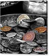 Old Coins Acrylic Print