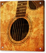Old Guitar Acrylic Print