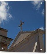 Old San Juan Puerto Rico Downtown Church Acrylic Print