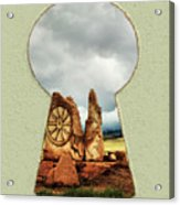 Old Spanish Trail Marker Acrylic Print