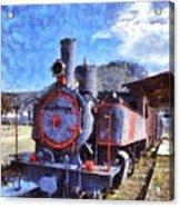 Old Steam Train In Nafplio Town Acrylic Print
