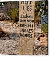 Old Tucson Graveyard Acrylic Print