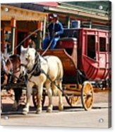 Old Tucson Stagecoach Acrylic Print