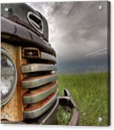 Old Vintage Truck On The Prairie Acrylic Print