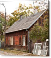 Old Wooden House With Tar Acrylic Print