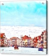 On A Boat Trip On The Grand Canal In The Beautiful City Of Venice In Italy Acrylic Print