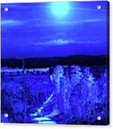 On A Cold Cold Night Acrylic Print
