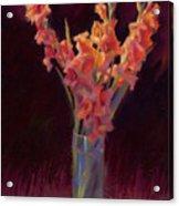 Orange Gladiolus Acrylic Print