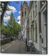 Oude Kerk In Delft Acrylic Print