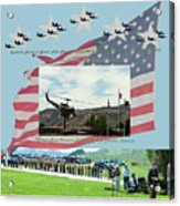 Our Memorial Day Salute Acrylic Print