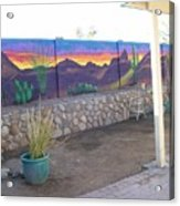 Outside Mural Acrylic Print