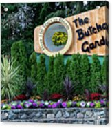 Over 100 Yrs In Bloom, Historic Garden Icon, The Butchart Gardens. Acrylic Print