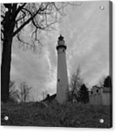 Overcast Lighthouse Acrylic Print