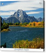 Oxbow Bend In Autumn Acrylic Print by Greg Norrell