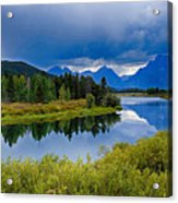 Oxbow Bend Storm Clouds Acrylic Print