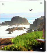 Pacific Ocean Monterey California  Acrylic Print
