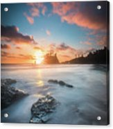 Pacific Sunset At Olympic National Park Acrylic Print