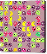 Pacman Seamless Generated Pattern Acrylic Print
