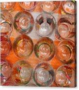 Painted Shot Glasses Acrylic Print