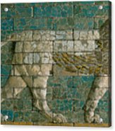Panel With Striding Lion Acrylic Print