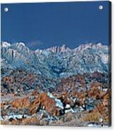 Panoramic Winter Morning Alabama Hills Eastern Sierras California Acrylic Print