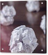 Paper Balls Acrylic Print