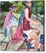 Parade Cyclers Acrylic Print