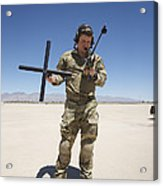 Pararescuemen Conducts A Communications Acrylic Print